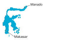 map cities sulawesi small