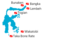 map diving spots sulawesi small